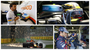 Fernando Alonso, Lewis Hamilton, Max Verstappen, Carlos Sainz