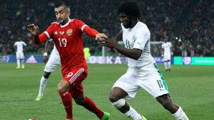Partido de la selección de Rusia contra Costa de Marfil.