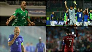 Los protagonistas de la jornada de eliminatorias mundialistas