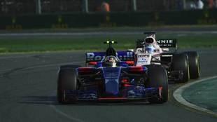 Carlos Sainz, durante la carrera del Gran Premio de Australia.
