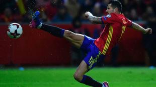 Vitolo, en su último partido con España.