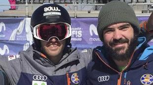 Lucas Eguibar y Regino Hernández en el Mundial de snowboard de Sierra...