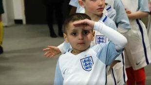 Bradley Lowery, el chico con neuroblastoma, antes de saltar al...