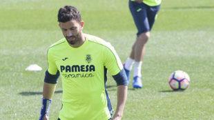 Musacchio (26), durante un entrenamiento.