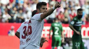 Jovetic, en el partido liguero contra el Leganés.