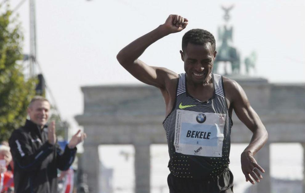 Bekele, en el maratón de Berlín.
