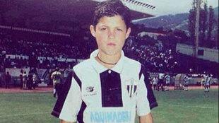 Cristiano vistiendo la camiseta del Madeira