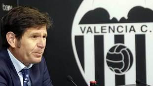 Mateu Alemany, durante su presentación como nuevo CEO del Valencia.