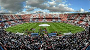 Panorámica del Vicente Calderón en un Atlético-Athletic.