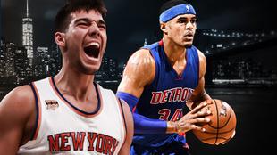 Anuncio de los Knicks en Twitter, con Willy Hernangómez como...