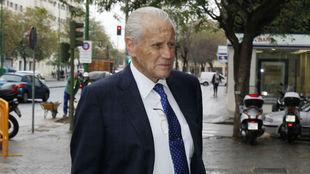 Hugo Galera, llegando al Juzgado de lo Mercantil.