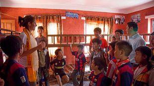 Edurne Pasaban, en Nepal.