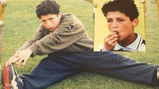 Imágenes de la infancia de Cristiano Ronaldo