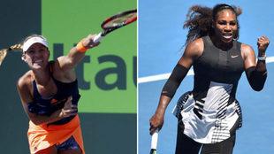 Kerber y Serena Williams.