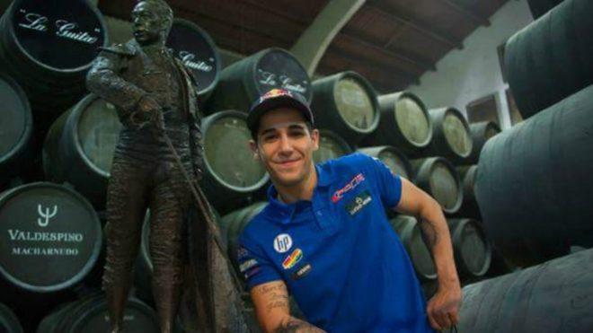 Luis Salom, en una bodega en Jerez.