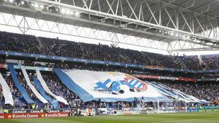 Aficionados del Espanyol en el RCDE Stadium