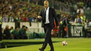 Zidane ante el Betis en el Villamarín