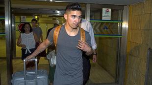 Felipe Gutiérrez, en el aeropuerto de Sevilla