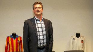 Mario Alberto Kempes, durante un acto del Valencia.