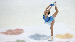 Medvedeva, durante el programa corto.