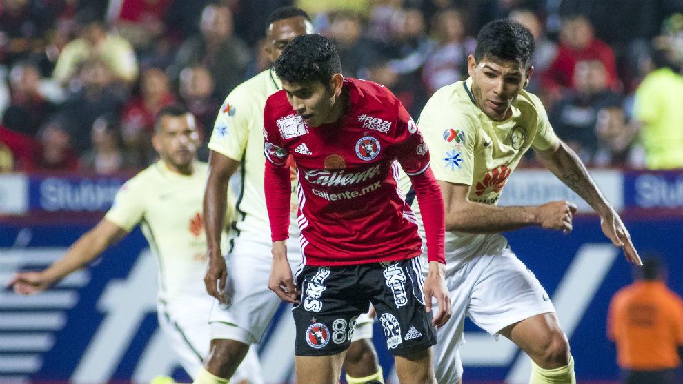 Varvas, en un partido de la Copa MX ante el América.