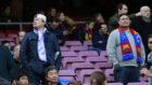 Un aficionado del Madrid en el Camp Nou.
