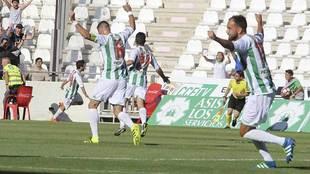 Deivid celebra un gol al Levante, en su penúltimo partido de esta...