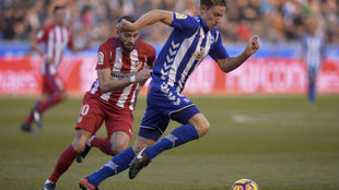 Marcos Llorente y Carrasco en el partido entre el Atlético y el...