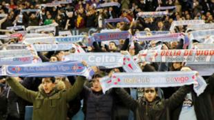 La afición gallega durante un encuentro en Balaídos