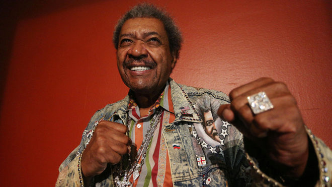 Don King, afamado promotor de boxeo.