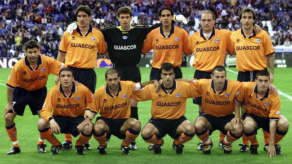 El once del Alavés que ganó en el Bernabéu.