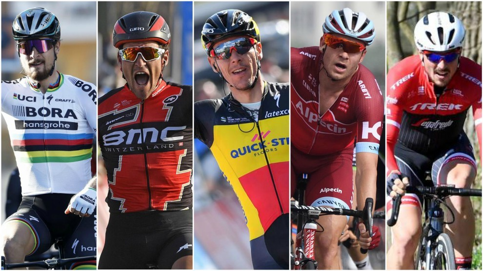 Sagan, Van Avermaet, Gilbert, Kristoff y Degenkolb, máximos...