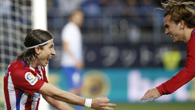Filipe Luis ejerce de Griezmann y pelea por el MVP de la jornada