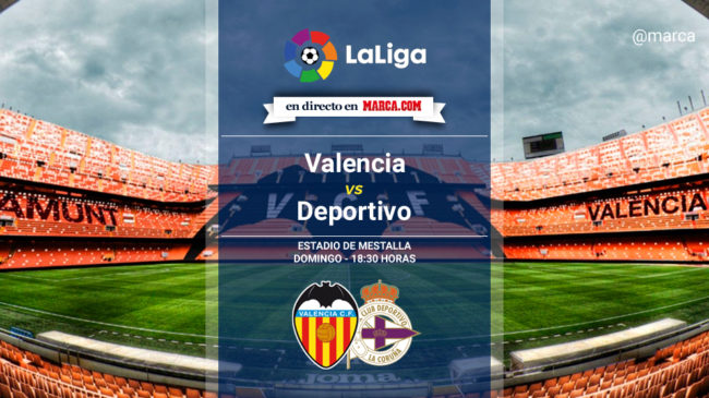 Valencia vs Deportivo en directo