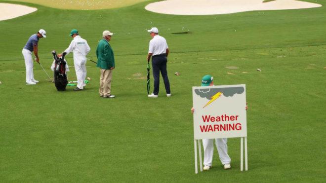 Los operarios del Augusta National alertan sobre el mal tiempo