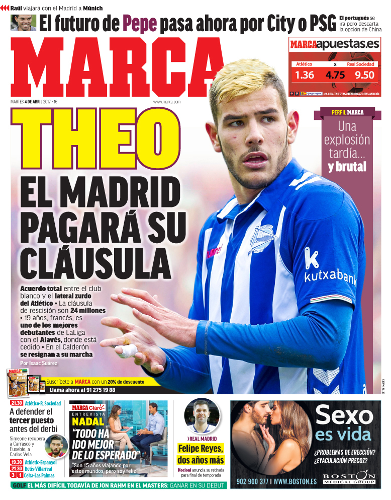 real madrid el madrid pagar la cl usula de theo