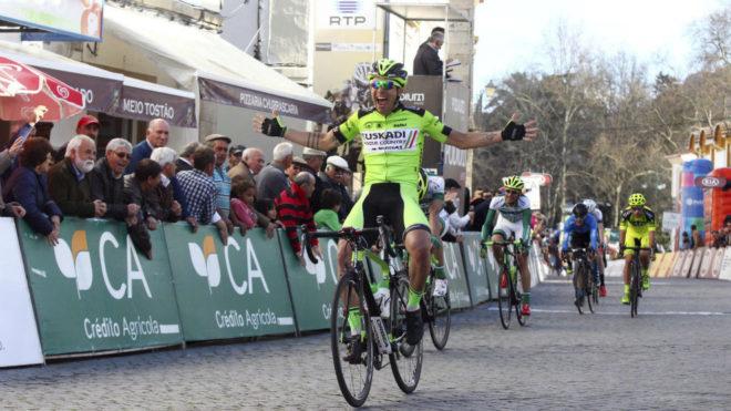 Imanol Estévez, en la Vuelta al Alentejo.