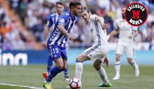Theo y Bale, en el partido de este domingo