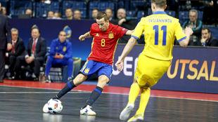 Lin golpea el balón durante el pasado Europeo de Serbia.