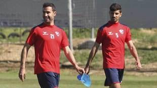 Íñigo López y Aguilera, durante un entrenamiento reciente del...