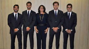 López, Ramos, Conchita, Carreño y Munar.