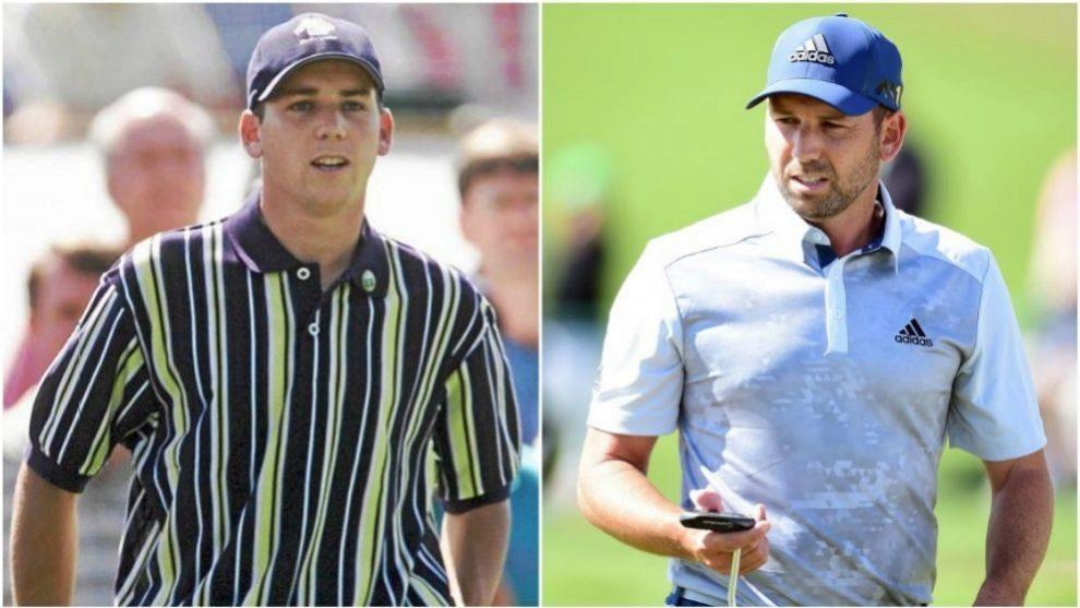 Sergio García, en el Masters de 1999; y Sergio García en el Masters...