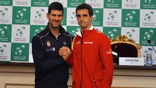 Djokovic y Ramos, en el sorteo