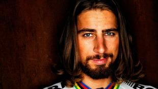 Sagan posa para la c�mara con el maillot de campe�n mundial