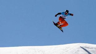 Lucas Eguibar en los Mundiales de Sierra Nevada.