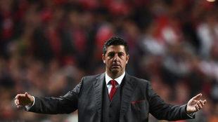 Rui Vitória, con el Benfica.