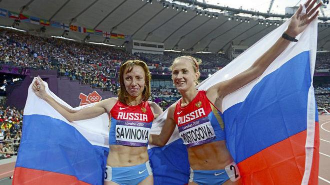 A file picture showing Ekaterina Poistogova (right).