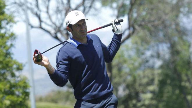 Luis Figo es un gran aficionado al golf.