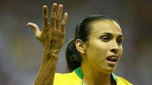 Marta, con la selección de su país en 2013.