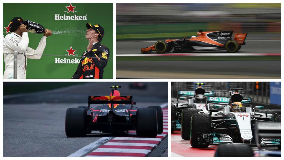 Varias de las imágenes que ha dejado el GP de China